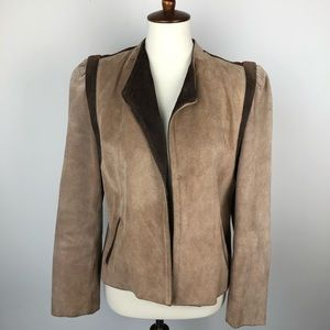 Vintage Winlit Colorblock Suede Leather Jacket